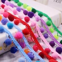 Colorful 2 Yards Pom Pom Bobble Ball Trim Fringe Ribbon Sewing Accessory  Lace 11d9b1124ad4