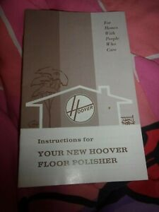 VINTAGE HOOVER FLOOR POLISHER VACUUM CLEANER OWNERS INSTRUCTIONS MANUAL 1967