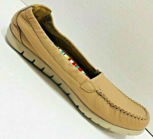 SAS Sunny Slip On Shoes Women's 12 WW NEW Moccasin Beige Latte Packable $141
