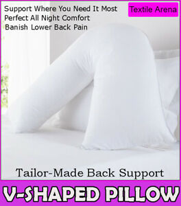 V Shaped Pillow - Extra Filled, Support for Pregnancy Maternity Nursing & Back