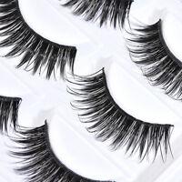 5 Pairs Natural Makeup False Eyelashes Handmade Long Thick Eye Lashes Extension