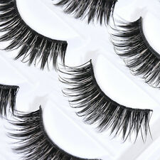 5 Pairs Natural Makeup False Eyelashes Handmade Long Thick Eye Lashes Extension