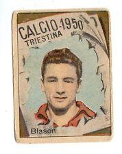 CALCIO FIGURINA  CALCIATORI   VAV  CAMPIONATO 1950  TRIESTINA   BLASON