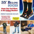 35 Below Socks Keep Your Feet Warm and Dry Aluminized Fibers - LD