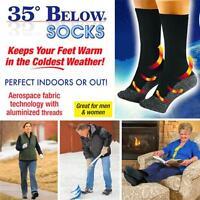 35 Below Socks Keep Your Feet Warm and Dry As Seen On TV Aluminized Fibers