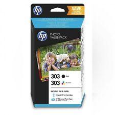 Pack HP Nº303 negro tricolor con 40 hojas 10x15 cm