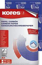 1 Pck (Inhalt 10 Bogen) Blaupapier, Durchschreibepapier, Pauspapier DIN A4