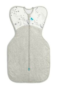 Love to Dream Swaddle Up WARM 2.5TOG - WHITE/GREY - 3 SIZES ZIP UP BABY SWADDLE