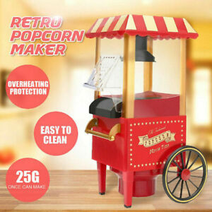 Popcorn Maker Carnival Electric Hot Air Fat Free 30's Retro Style Machine AU