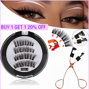 8D Quantum Magnetic False Eyelashes Long Lashes Reusable / Lashes Curler Clip !U