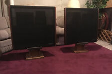 Pair of Dahlquist DQ-10 Phased Array Speakers With Stands Loudspeaker Dalquist