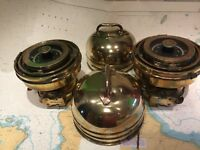PaIr Rare Brass Original R. N. Ships Binnacle Gimbal Pelorus Compass Maritime