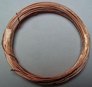 Kupferdraht blank, Stärke 0,60mm / 10m-Ring