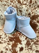 Blue Baby Infant Boots Booties Fleece Lined Rubber Sole Warm NEW Various Sizes