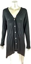 VELVET Brand Black Button Front Cardigan size LARGE L