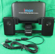 iSound iMan Portable Sliding Speaker System iPhone iPod Blackberry Palm Pre Cell