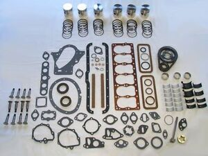 Basic Engine Rebuild Kit 1934-1939 Dodge 218 pistons lifters 34 35 36 37 38 39
