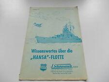 Schowanek : Wissenswertes über die Hansa-Flotte  Ausgabe 1/1970, selten! (KAT)
