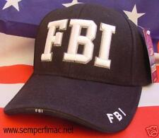 FBI HAT CAP US Federal Bureau of Investigation PIN UP WOWH WASHINGTON QUANTICO