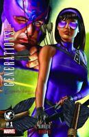Generations Hawkeye & Hawkeye #1 Greg Horn Variant (Marvel 2017) NM Gemini Ship