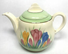 More details for antique clarice cliff art deco crocus teapot royal stafford england l2