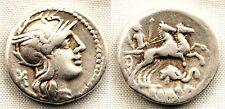 Republica Romana-Caecilia. Denario. 128 a. C. Roma. MBC+/VF+. Plata 3,8 g.