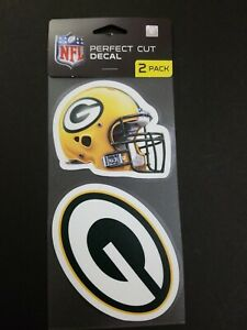 """Green Bay Packers 2 Pack Perfect Cut Decals Approx 4"""" x 4"""" Each Decal"""