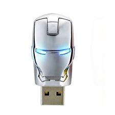 16GB U Disk Iron Man Mark Memory Stick Metal USB 2.0 Flash Drive Thumb Drive