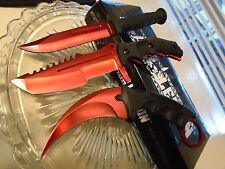 Black Legion Red Tini CSGO 3 Knife Knives Set Small Bowies Karambit Huntsman 448