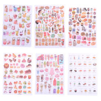 2Sheets Creative Food Drinks Diary Scrapbook Decoration DIY Stickers Toys Gif ze