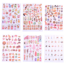 2Sheets Creative Food Drinks Diary Scrapbook Decoration DIY Stickers Toys GiftC&