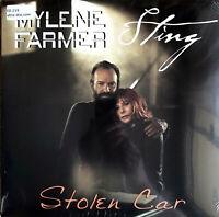 """Mylène Farmer, Sting 12"""" Stolen Car - France (VG/M)"""