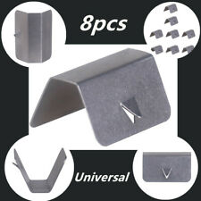 8*Wind/ Rain Deflector Channel New Metal Retaining Clips For Heko SNED Stainless