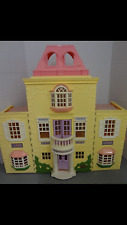 Fisher Price Loving Family TWIN Time Yellow Large Grand Mansion Dollhouse