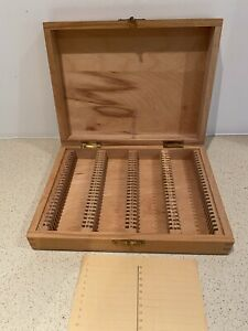 VINTAGE WOODEN  SLIDE STORAGE BOX - 100 size CASE 35mm