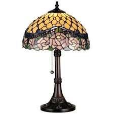 Meyda Lighting 19.5'H Jeweled Rose Table Lamp, Beige Purple Bapa 59 Nawr - 82304