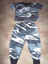 2 Piece Pajamas Snow Camo Pajamas 2T Urban Camo PJs Urban Camo Pants Camo Shirt