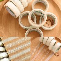 5pcs DIY Washi Paper Lace Decorative Sticky Sticker Paper Masking Adhesive Tape
