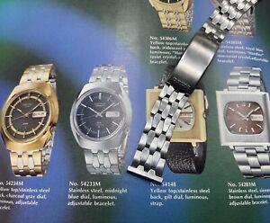 Vintage Seiko watch Long Coffin Link satin steel 20mm bracelet 1960s/70s band