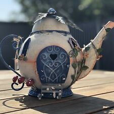 Secret Fairy Garden Magical Teapot House Outdoor Garden Decorative Ornament Gift