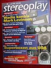 Stereoplay 7/98 wilson audio cub, Hales trancendence, Creek p 43,a 43,a 52 se