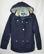 Mackintosh New England Blue w/Hood Rain Jacket Car Coat Women's PS