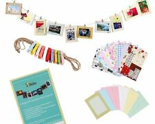 "Wall Deco DIY Paper Photo Frame with Mini Clothespins Fits 4""x 6"""