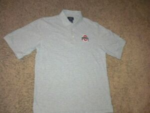 OHIO STATE BUCKEYES Champion gray sewn polo shirt men's Small