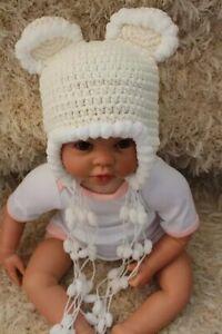 New Handmade Knit Crochet Baby Child Kids Hat Cap Beanie Teddy Bears Hat Beanie