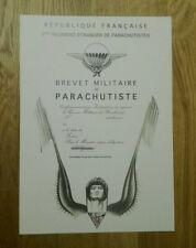 URKUNDE Fallschirmjäger, Frankreich, Fremdenlegion, Legion Etranger, 2eme REP