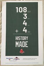 Boston Red Sox World Series Poster Fenway No Bobblehead SGA Mookie ALCS ALDS JD