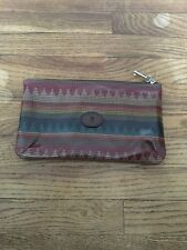 Fossil Key-Per Multicolored Coated Canvas Clutch