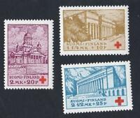 FINLANDE  N °: 170/172  - SUOMI RED CROSS -NEWS  - year 1930-  CV : 8 €