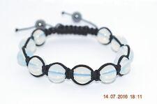 Bracelet Shamballa perles Pierre de Lune synthétique 10mm - Lithothérapie